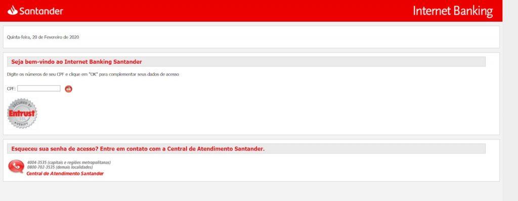 Login Internet Banking Santander